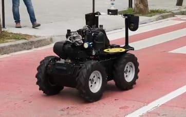 Aquiles II, el robot policía en Sant Cugat, en Barcelona