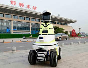 robot policía chino para vigilancia y seguridad de sus calles